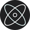 ReImager Logo - Atom with electrons around it